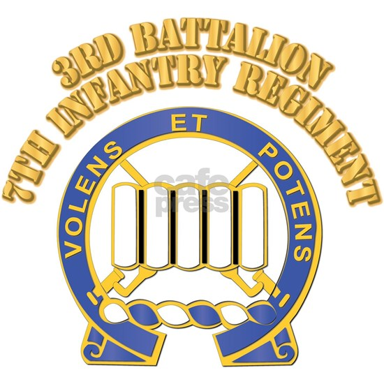 DUI - 3rd Battalion - 7th Infantry Regiment with T