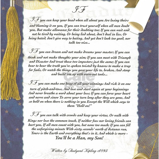 Graduation Key To The Future IF by Rudyard Kipling