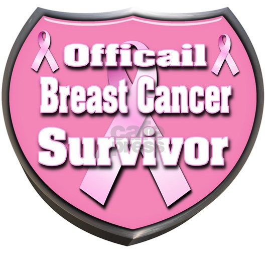 Officail breast Cancer Survivor Badge 3D