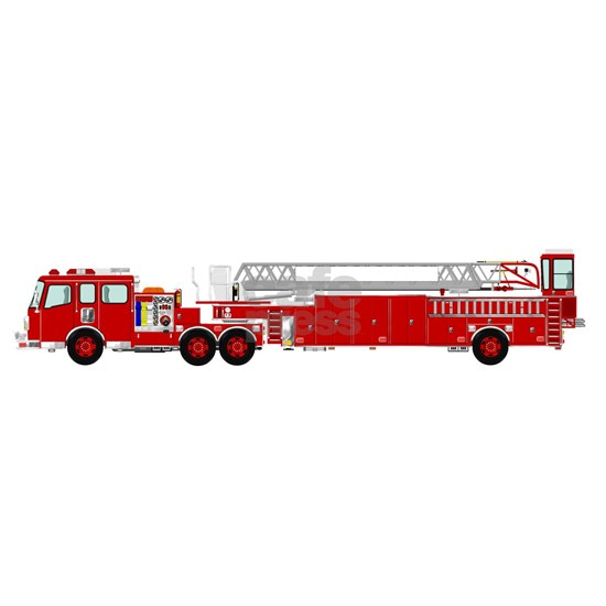 Fire Truck - Traditional ladder fire truck red