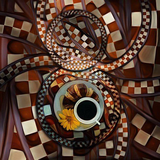 Midnight Never Ends, a Red Checkered Diner Fractal