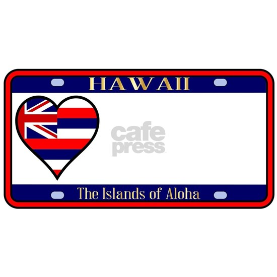 Hawaii State License Plate