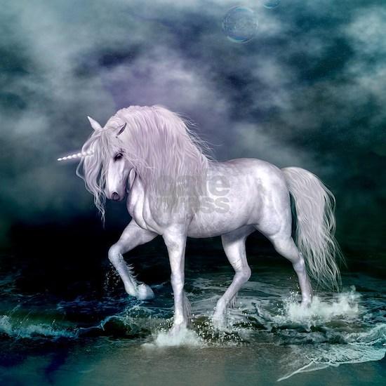 Wonderful unicorn on the beach