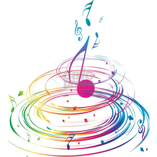 Colorful Music Swirl