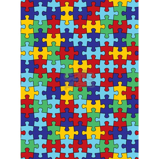 Autism Awareness Puzzle Piece Pattern
