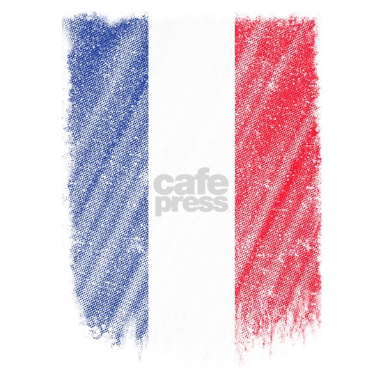 French Flag Shirt France Flag T shirt Wavy Retro D
