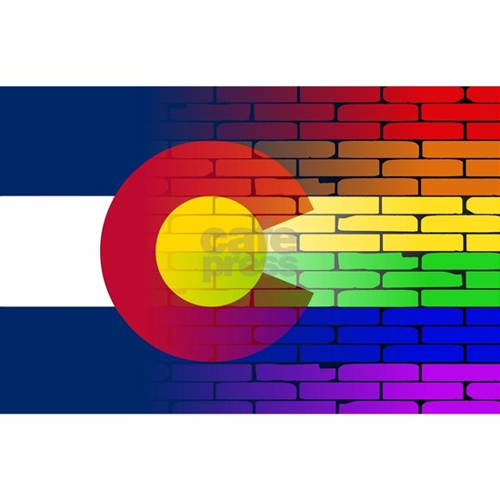 Gay Rainbow Wall Colorado Flag