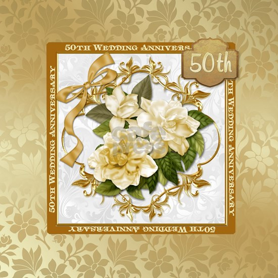 Floral Gold  50th Wedding Anniversary