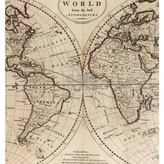 Old Fashioned World Map (1795)