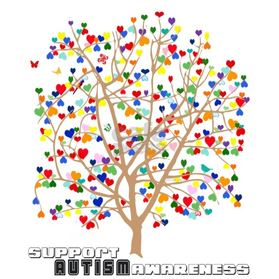 Support Autism Awareness Tree