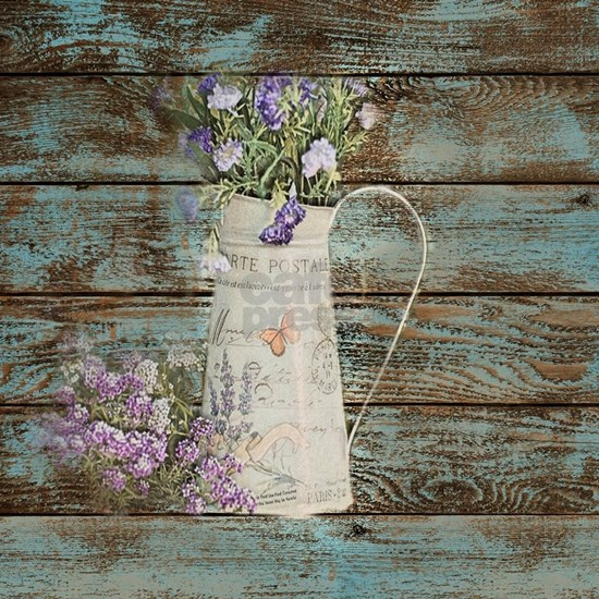 distressed western country wildflower