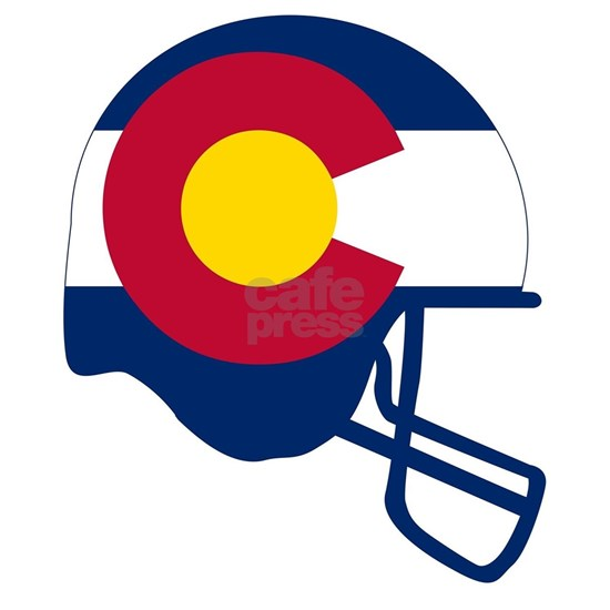 Colorado State Flag Football Helmet