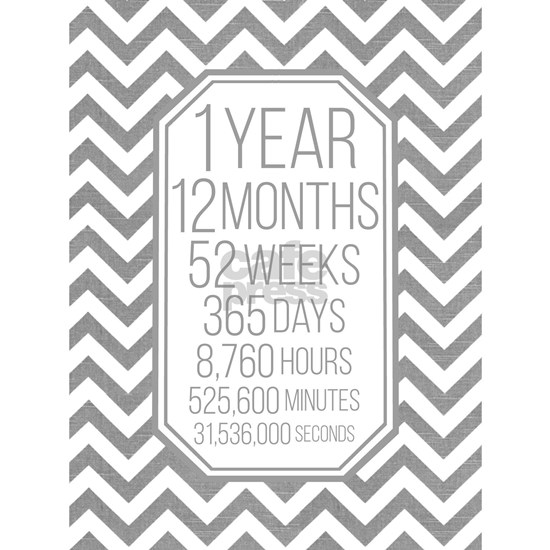1 Year (Gray Chevron)