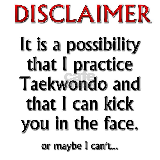 TKD Disclaimer