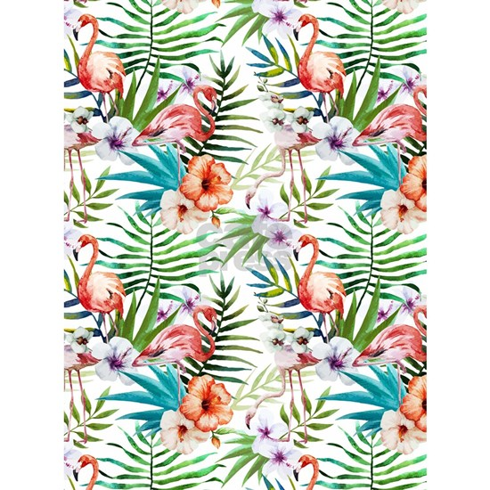 Vintage Chic Tropical Hibiscus Floral
