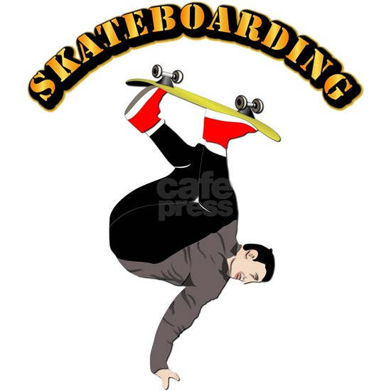 Skateboarding with Text