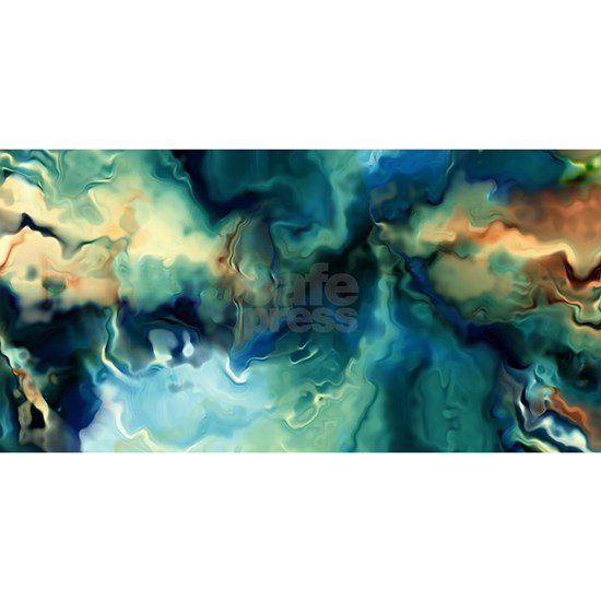 Abstract Blue Oil Painting Fractal