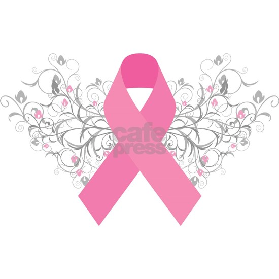 Pink Ribbon Abstract Design