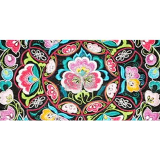 turquoise pink flowers bohemian