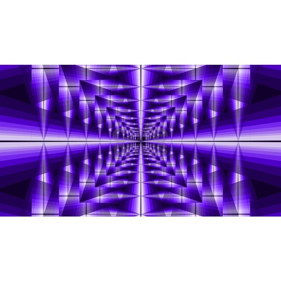 Trippy Purple Plaid
