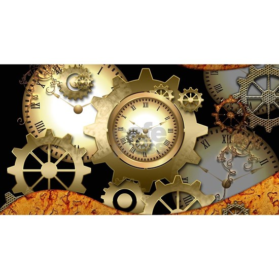 Steampunk, clocks and gears