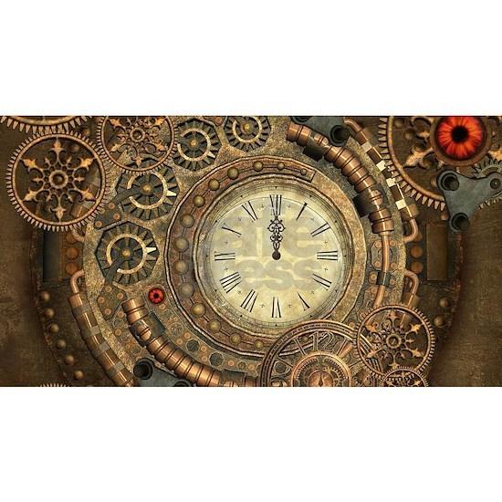 Steampunk, clockwork with gears