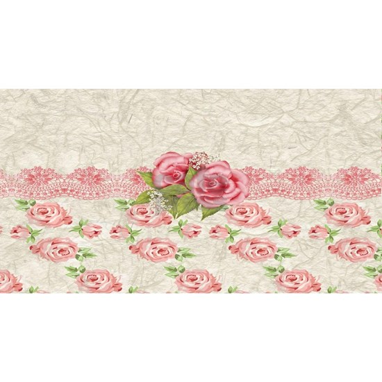 Vintage Pink and  Cream Rose Pattern