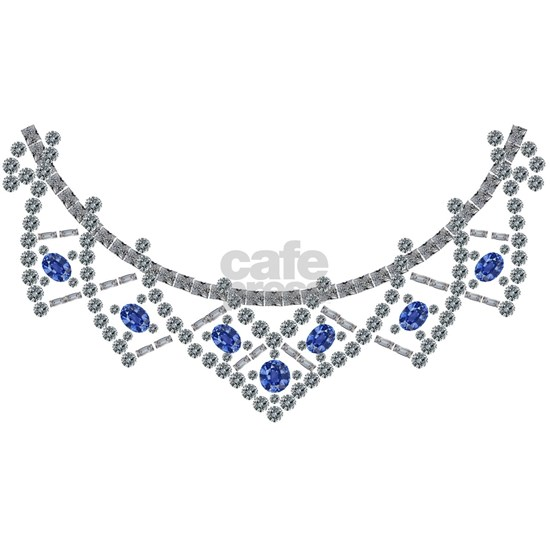 1950s Sapphire and Diamond Necklace