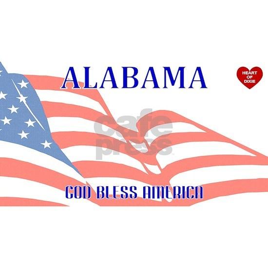 AL - God Bless America blank license plate design