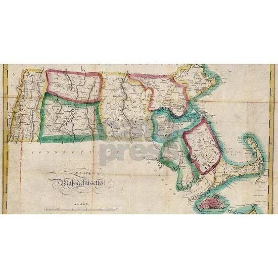 Vintage Map of Massachusetts (1827) 2