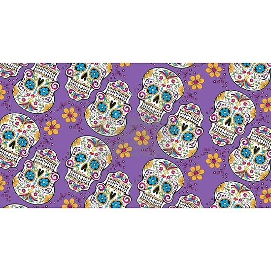 Sugar Skull Halloween Purple