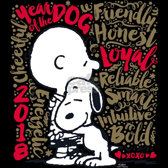 Peanuts Year of the Dog Word Cloud