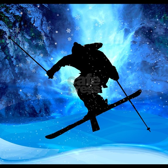 Winter Landscape and Freestyle Skier