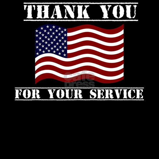 Thank You For Your Service American Flag Veterans