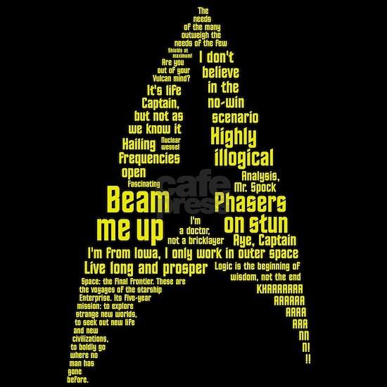 Star Trek Quotes Insignia - Gold