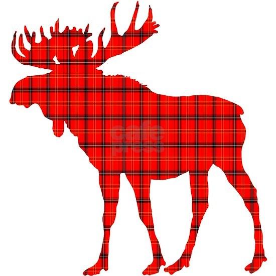 Moose: Rustic Red Plaid