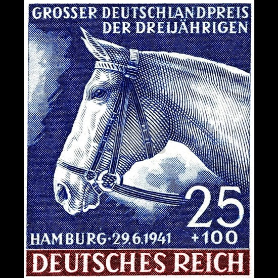 1941 Germany Racehorse Postage Stamp