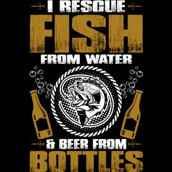 Fishing And Beer Drinking T Shirt