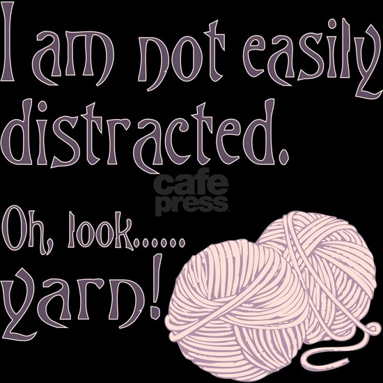 Distracted by yarn Pink