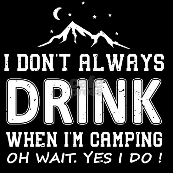 I Don't Always Drink When I'm Camping T-
