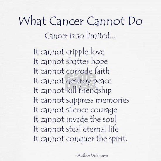 What Cancer Cannot Do Inspirational Cancer Poem