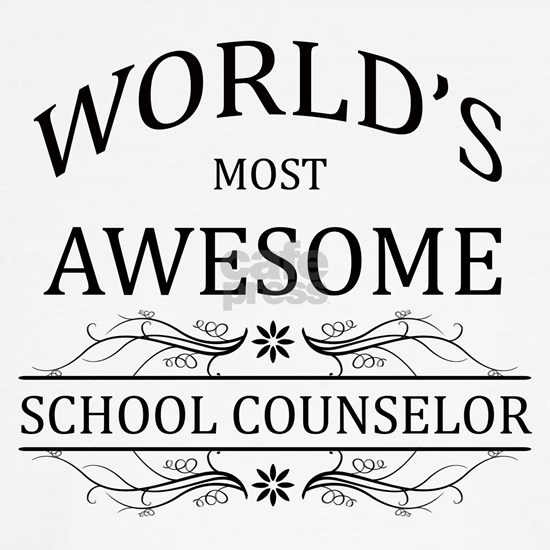 World's Most Awesome School Counselor Wall Clock by World