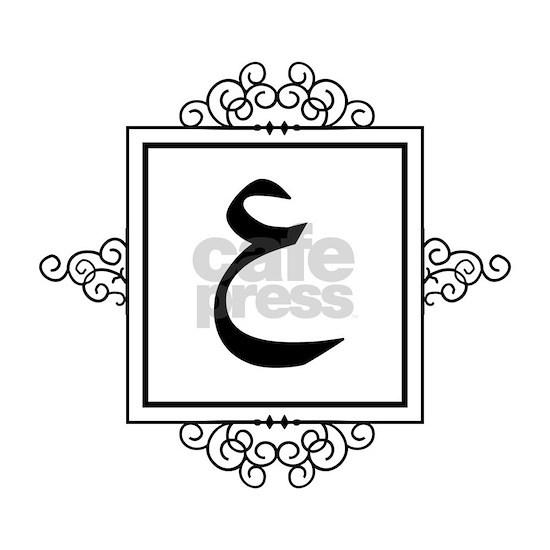 Ayn Arabic Letter 3 A Monogram Wall Clock By Admin Cp49789583 Cafepress