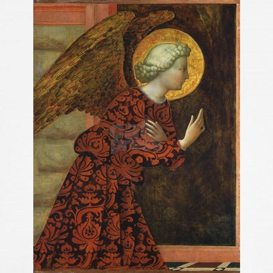Angel of the Annunciation - Masolino da Panicale