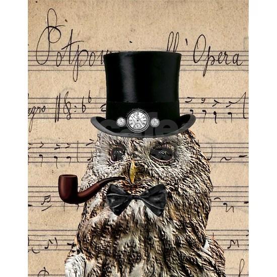 577d8cd0d Victorian Steampunk Owl Sheet Music Wall Clock
