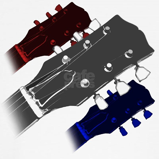 red white and blue headstock