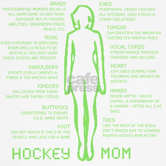 hockey mom silhouette green