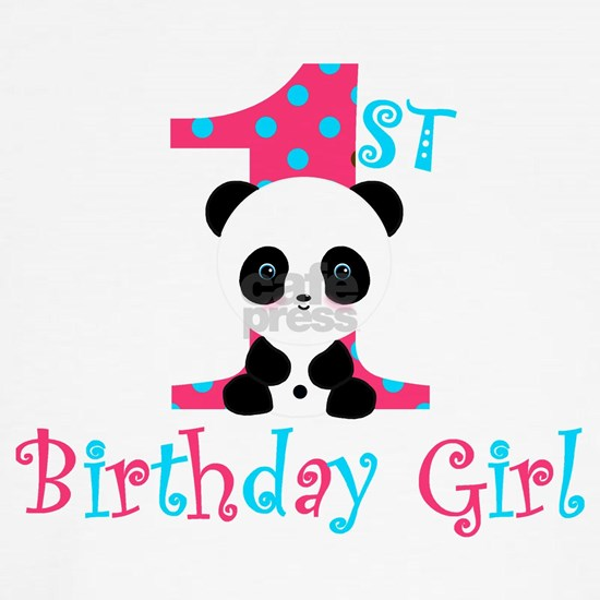 1st Birthday Girl Panda Bear