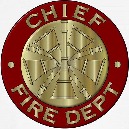 Fire chief brass sybol