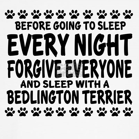 Sleep With A Bedlington Terrier